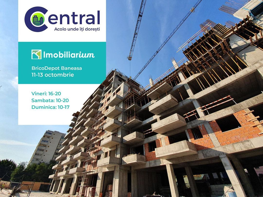 Construction site updates for the project Central in Bucharest, Romania